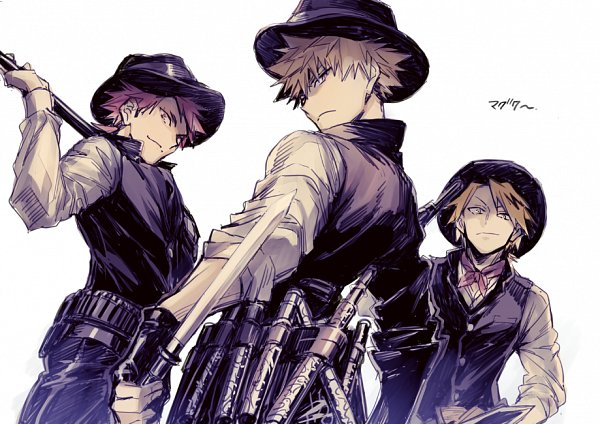 Tags: Anime, hegi, Boku no Hero Academia, Kaminari Denki, Bakugou Katsuki, Kirishima Eijirou, Twitter, My Hero Academia