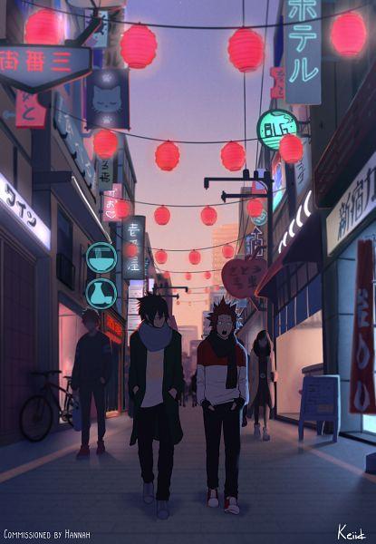 Tags: Anime, Keiid, Boku no Hero Academia, Amajiki Tamaki, Kirishima Eijirou, Paper Lantern, Store, Fanart, My Hero Academia