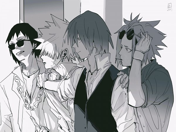 Tags: Anime, Zec (zec1997), Boku no Hero Academia, Bakugou Katsuki, Kirishima Eijirou, Sero Hanta, Kaminari Denki, 2000x1500 Wallpaper, Wallpaper, My Hero Academia