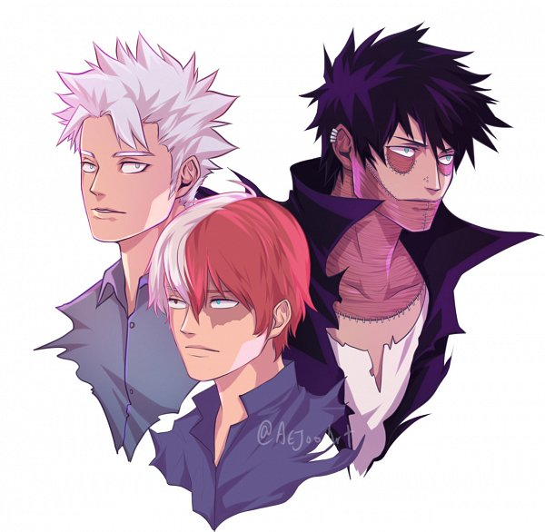 Tags: Anime, Aejooart, Boku no Hero Academia, Todoroki Shouto, Todoroki Natsuo, Dabi, Fanart From Tumblr, Tumblr, Fanart, My Hero Academia
