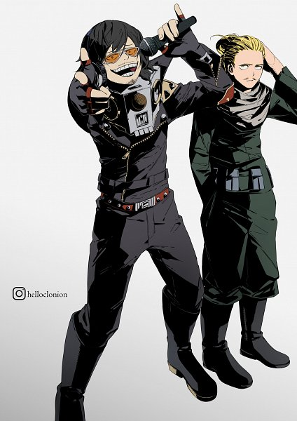 Tags: Anime, Helloclonion, Boku no Hero Academia, Aizawa Shouta, Present Mic, Personality Switch, Stubble, Present Mic (Cosplay), Power Switch, Aizawa Shouta (Cosplay), Creepy Smile, Out of Character, Fanart, My Hero Academia