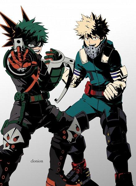 Tags: Anime, Helloclonion, Boku no Hero Academia, Bakugou Katsuki, Midoriya Izuku, Grenade, Midoriya Izuku (Cosplay), Power Switch, Bakugou Katsuki (Cosplay), Grenades, Out of Character, Personality Switch, Fanart, My Hero Academia