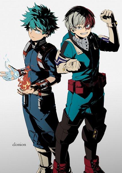 Tags: Anime, Helloclonion, Boku no Hero Academia, Todoroki Shouto, Midoriya Izuku, Todoroki Shouto (Cosplay), Power Switch, Midoriya Izuku (Cosplay), Out of Character, Personality Switch, Fanart, My Hero Academia