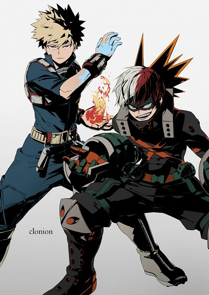 Tags: Anime, Helloclonion, Boku no Hero Academia, Todoroki Shouto, Bakugou Katsuki, Power Switch, Bakugou Katsuki (Cosplay), Grenades, Out of Character, Personality Switch, Grenade, Todoroki Shouto (Cosplay), Fanart, My Hero Academia