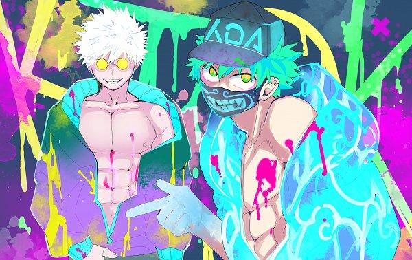 Tags: Anime, Mikan (Pixiv 603442), Boku no Hero Academia, Bakugou Katsuki, Midoriya Izuku, Evelynn (Cosplay), League of Legends (Cosplay), Akali (Cosplay), Fanart, KatsuDeku, My Hero Academia