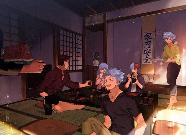 Tags: Anime, Sennen Suisei, Boku no Hero Academia, Todoroki Rei, Todoroki Fuyumi, Todoroki Enji, Todoroki Toya, Todoroki Shouto, Todoroki Natsuo, Fanart, My Hero Academia
