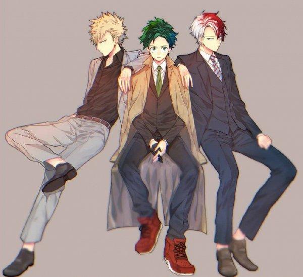 Tags: Anime, Boku no Hero Academia, Bakugou Katsuki, Midoriya Izuku, Todoroki Shouto, Artist Request, My Hero Academia