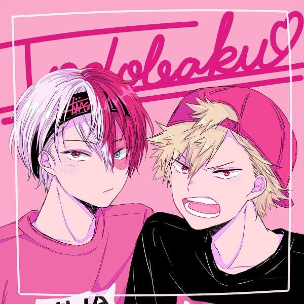 Tags: Anime, Pixiv Id 12087648, Boku no Hero Academia, Bakugou Katsuki, Todoroki Shouto, Text: Couple Name, Pixiv, Fanart, Fanart From Pixiv, TodoBaku, My Hero Academia