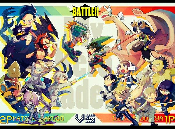Tags: Anime, mebarunrun, Boku no Hero Academia, Shouji Mezou, Tokoyami Fumikage, Bakugou Katsuki, Kaminari Denki, Satou Rikidou, Hagakure Tooru, Mineta Minoru, Midoriya Izuku, Jirou Kyouka, Yaoyorozu Momo, My Hero Academia