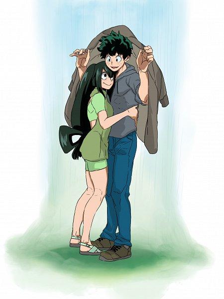 Tags: Anime, Pixiv Id 20020065, Boku no Hero Academia, Asui Tsuyu, Midoriya Izuku, IzuTsu, My Hero Academia