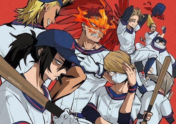 Tags: Anime, Kadeart, Boku no Hero Academia, Hakamata Tsunagu, Present Mic, Todoroki Enji, Takami Keigo, All Might, Toyomitsu Taishiro, Aizawa Shouta, Baseball, My Hero Academia