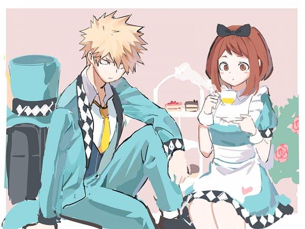 Tags: Anime, joman, Boku no Hero Academia, Uraraka Ochako, Bakugou Katsuki, Mad Hatter (Cosplay), Alice (Alice in Wonderland) (Cosplay), Kacchako, My Hero Academia