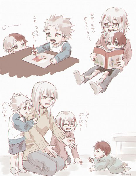 Tags: Anime, Pixiv Id 1549849, Boku no Hero Academia, Todoroki Natsuo, Todoroki Rei, Todoroki Fuyumi, Todoroki Shouto, Painting (Action), Drawing (Action), Fanart From Pixiv, Pixiv, Fanart, My Hero Academia