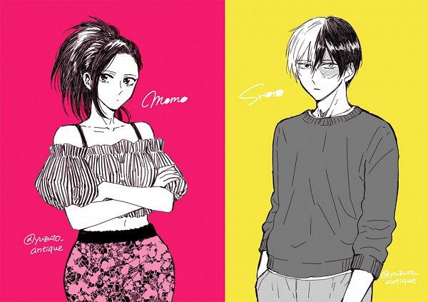 Tags: Anime, Pixiv Id 346378, Boku no Hero Academia, Todoroki Shouto, Yaoyorozu Momo, TodoMomo, My Hero Academia