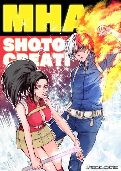 Tags: Anime, Pixiv Id 346378, Boku no Hero Academia, Yaoyorozu Momo, Todoroki Shouto, My Hero Academia
