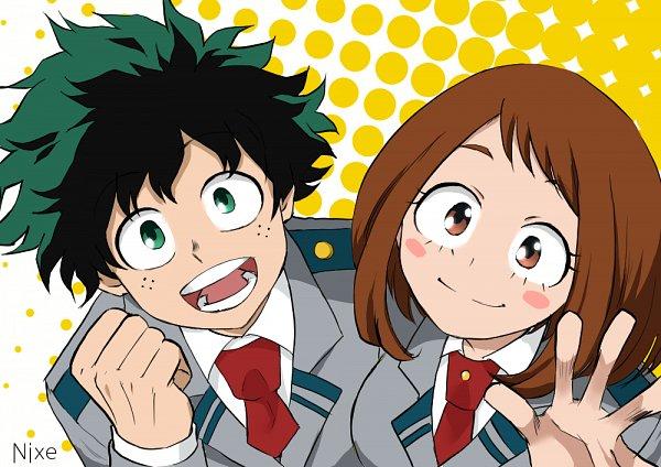 Tags: Anime, Pixiv Id 11709881, Boku no Hero Academia, Uraraka Ochako, Midoriya Izuku, My Hero Academia