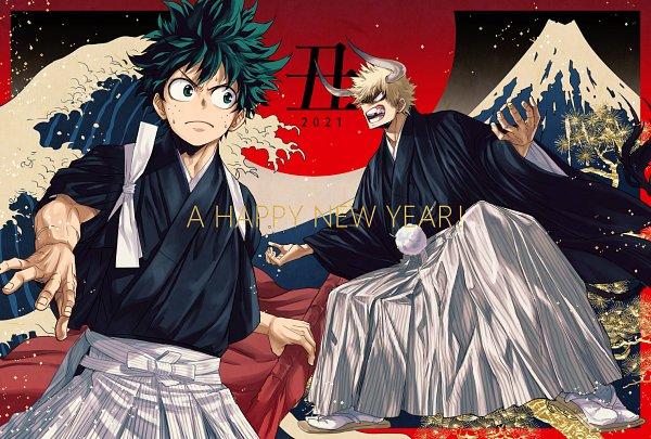 Tags: Anime, Pixiv Id 13513026, Boku no Hero Academia, Bakugou Katsuki, Midoriya Izuku, Happy 2021, KatsuDeku, My Hero Academia
