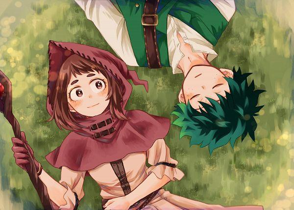 Tags: Anime, Pixiv Id 3559814, Boku no Hero Academia, Uraraka Ochako, Midoriya Izuku, Pixiv, Fanart, Fanart From Pixiv, My Hero Academia