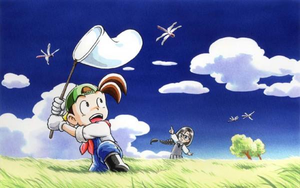 Tags: Anime, Harvest Moon: DS, Bokujou Monogatari, Mary (Harvest Moon), Jack (Harvest Moon), Dragonfly