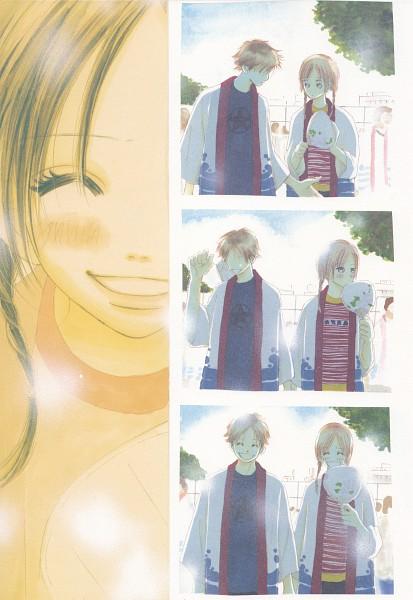 Tags: Anime, Yuuki Obata, Bokura ga Ita, Motoharu Yano, Nanami Takahashi, Manga Color, Scan, Official Art, Mobile Wallpaper