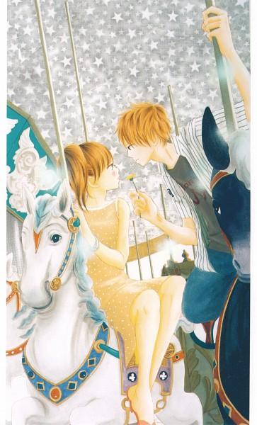 Tags: Anime, Yuuki Obata, Bokura ga Ita, Nanami Takahashi, Motoharu Yano, Carousel, Manga Color, Official Art, Scan, Mobile Wallpaper