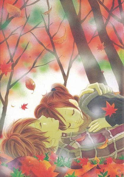 Tags: Anime, Yuuki Obata, Bokura ga Ita, Nanami Takahashi, Motoharu Yano, Mobile Wallpaper, Manga Color, Scan, Official Art