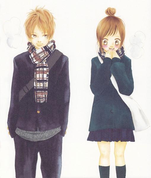 Tags: Anime, Yuuki Obata, Bokura ga Ita, Nanami Takahashi, Motoharu Yano, Manga Color, Scan, Official Art