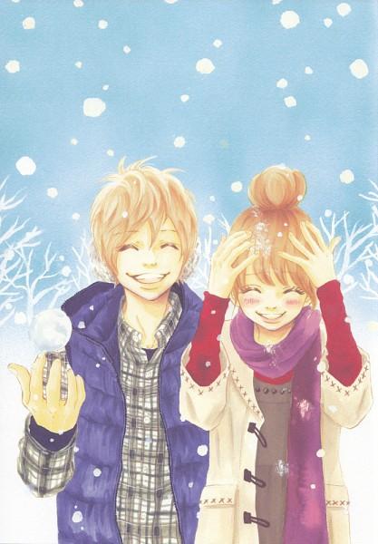 Tags: Anime, Yuuki Obata, Bokura ga Ita, Nanami Takahashi, Motoharu Yano, Mobile Wallpaper, Official Art