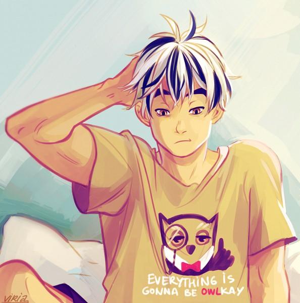 Tags: Anime, Viktoria Ridzel, Haikyuu!!, Bokuto Koutarou, PNG Conversion, Fanart, Tumblr