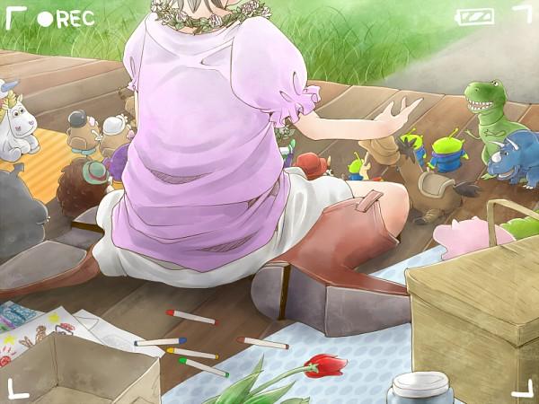 Tags: Anime, Kosokoso, Tonari no Totoro, Toy Story, Jessie (Toy Story), Rex (Toy Story), Woody, Bonnie (Toy Story), Bullseye, Mrs. Potato Head, Totoro, Mr. Potato Head, Dinosaur