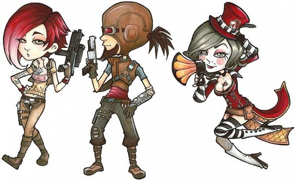 Tags: Anime, Borderlands, Mad Moxxi, Mordecai (Borderlands), Lilith (Borderlands), Ammunition Belt, Mixxy(Borderlands), Lilith(Borderlands)