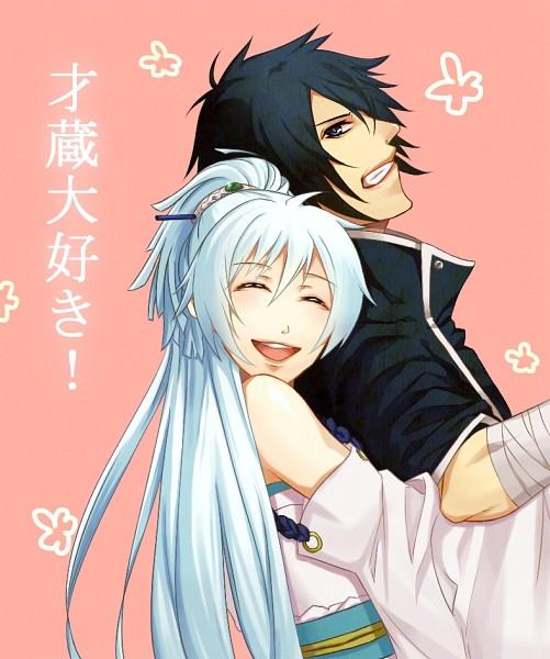 Tags: Anime, Pixiv Id 2674644, Brave 10, Isanami, Kirigakure Saizou, Pixiv, Fanart