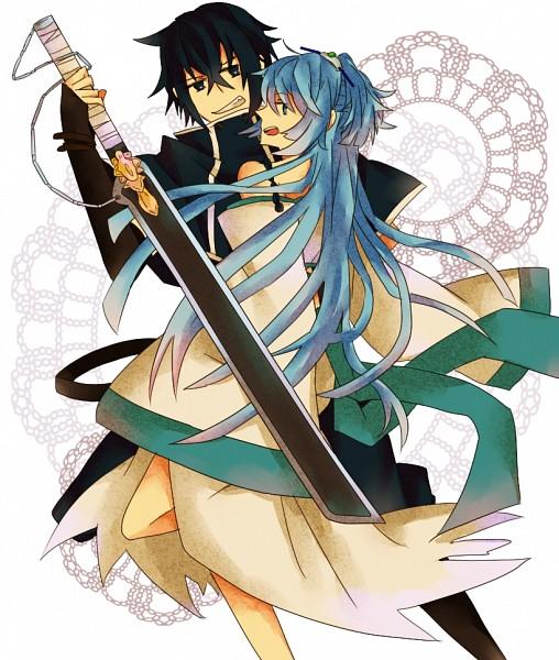 Tags: Anime, Pixiv Id 1751365, Brave 10, Isanami, Kirigakure Saizou, Pixiv, Fanart