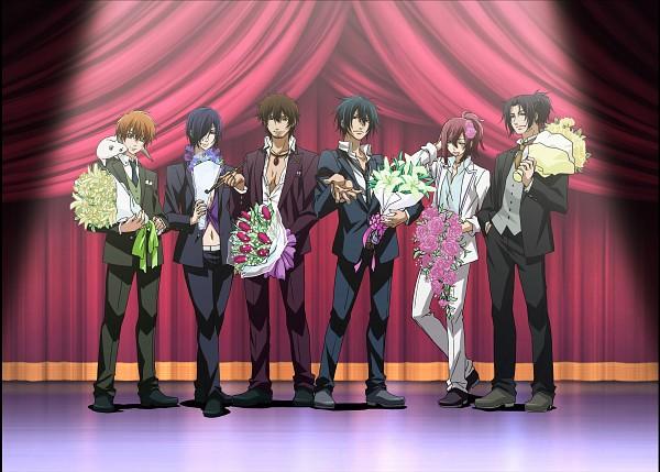Tags: Anime, Brave 10, Sarutobi Sasuke (Brave 10), Kirigakure Saizou, Kamanosuke Yuri, Sanada Yukimura (Brave 10), Kakei Juuzou, Unno Rokurou, Host, Official Art, Wallpaper