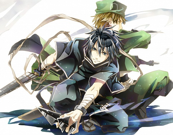 Tags: Anime, Pixiv Id 1159520, Brave 10, Sarutobi Sasuke (Brave 10), Kirigakure Saizou, Pixiv