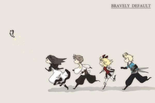 Tags: Anime, SQUARE ENIX, Bravely Default: Flying Fairy, Tiz Arrior, Ringabell (Bravely Default), Edea Lee, Agnès Oblige, Pompadour