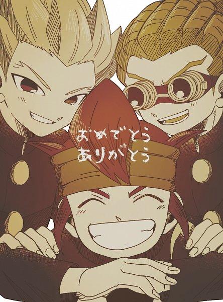 Tags: Anime, Pixiv Id 23777129, Inazuma Eleven, Endou Mamoru, Kidou Yuuto, Gouenji Shuuya, Fanart From Pixiv, Pixiv, Fanart, Break Team
