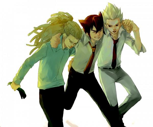 Tags: Anime, Level-5, Inazuma Eleven GO, Inazuma Eleven, Kidou Yuuto, Gouenji Shuuya, Endou Mamoru, Break Team