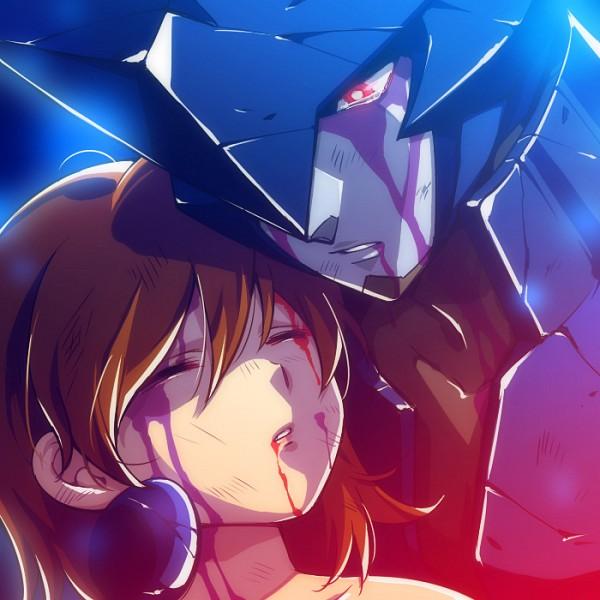 Tags: Anime, Tetsukuzu Tetsuko, Brigadoon, Marin Asagi, Melan Blue, Alien, Fanart, Pixiv