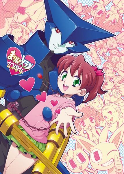 Tags: Anime, Tetsukuzu Tetsuko, Brigadoon, Lolo (Brigadoon), Melan Blue, Marin Asagi, Erin Garnet (Brigadoon), Pyon Silver, Pink Skin, Alien, Pixiv, Fanart