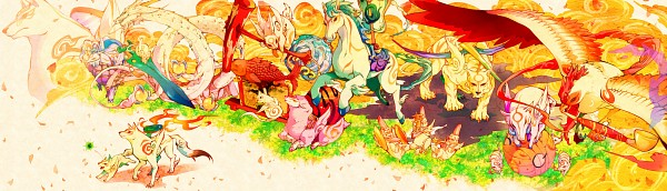 Tags: Anime, Gline, Okami Den, Okami, Nuregami, Tachigami, Kazegami, Chibiterasu, Amaterasu, Itegami, Gekigami, Bakugami, Kasugami