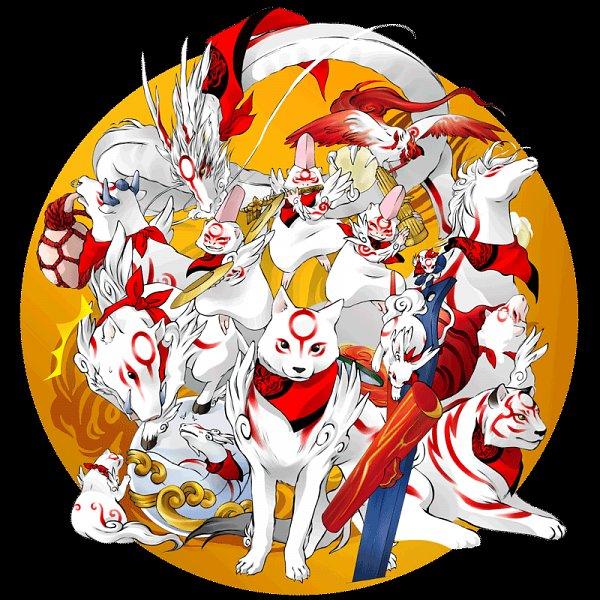Tags: Anime, Pixiv Id 3747421, Okami, Itegami, Gekigami, Bakugami, Kasugami, Kabegami, Yumigami, Moegami, Yomigami, Nuregami, Amaterasu