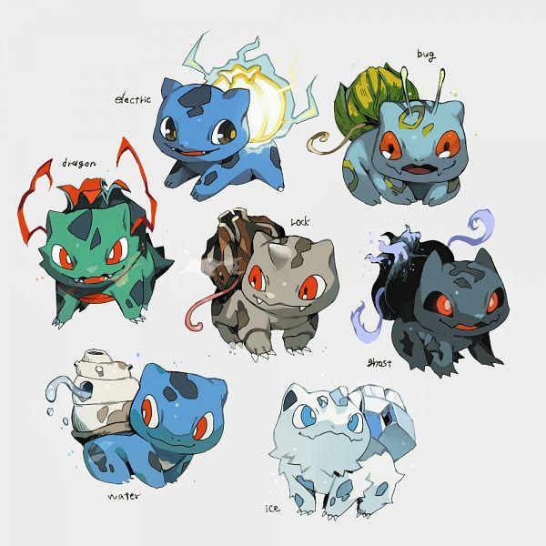 Tags: Anime, Shilla P, Pokémon, Bulbasaur, Alternate Appearance, Fanart From Pixiv, Fanart, Pixiv