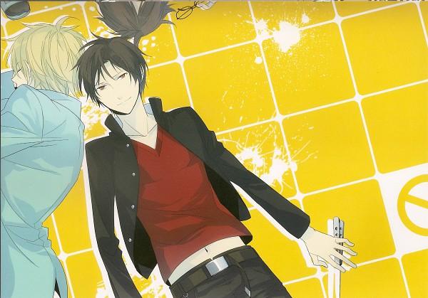 Tags: Anime, ryugo, DURARARA!!, Bumblebee - Hummel Color Illustrations, Heiwajima Shizuo, Kishitani Shinra, Orihara Izaya, Scan, Raijin Days