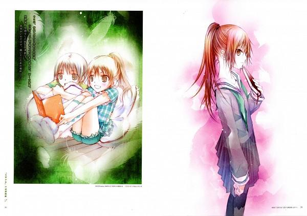 Tags: Anime, Takeoka Miho, Bungaku Shoujo, Bungaku Shoujo Fantasy Art Book, Inoue Konoha, Asakura Miu, Scan, Official Art