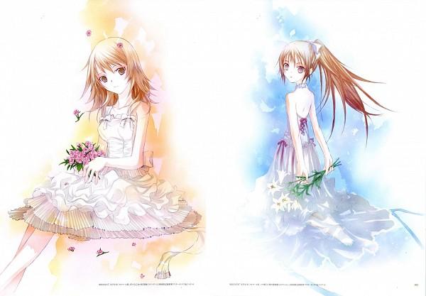 Tags: Anime, Takeoka Miho, Bungaku Shoujo, Bungaku Shoujo Fantasy Art Book, Asakura Miu, Kotobuki Nanase, Scan, Official Art