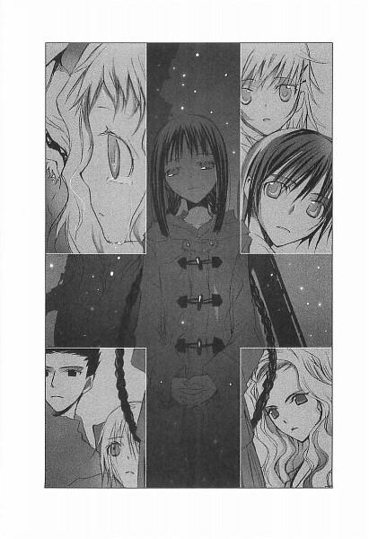 Tags: Anime, Takeoka Miho, Bungaku Shoujo, Asakura Miu, Himekura Maki, Inoue Konoha, Kotobuki Nanase, Akutagawa Kazushi, Takeda Chia, Amano Touko, Scan, Official Art, Novel Illustration