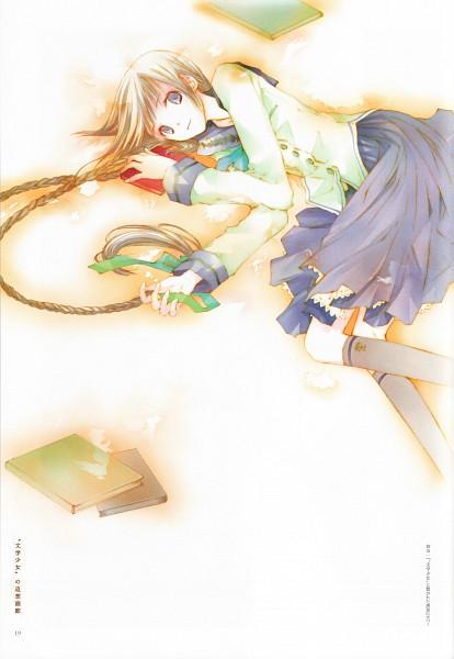 Tags: Anime, Takeoka Miho, Bungaku Shoujo, Amano Touko, Novel Illustration, Official Art