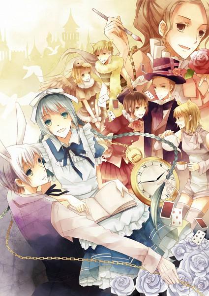 Tags: Anime, Bungaku Shoujo, Alice in Wonderland, Asakura Miu, Kotobuki Nanase, Himekura Maki, Takeda Chia, Akutagawa Kazushi, Amano Touko, Sakurai Ryuto, Inoue Konoha, Fanart