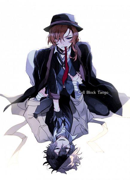 Tags: Anime, Pixiv Id 4657637, Bungou Stray Dogs, Nakahara Chuuya (Bungou Stray Dogs), Dazai Osamu, Bandaged Neck, PNG Conversion, Pixiv, Fanart, Mobile Wallpaper, Fanart From Pixiv